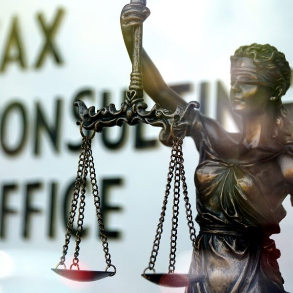Lady Justice in Tax Consulting Office